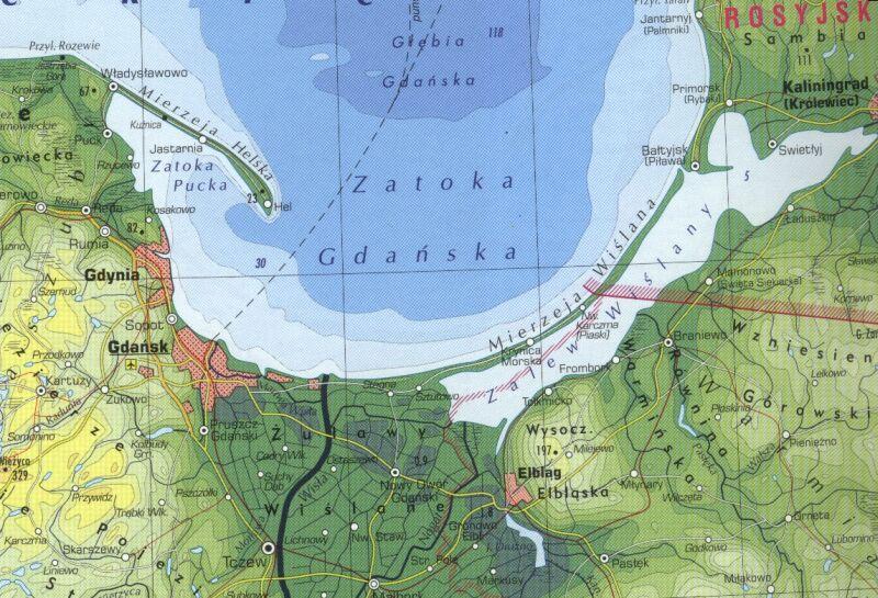 Wybrzeze Baltyku 1 190 000 Mapa Turystyczna Tylko 12 99 Zl W